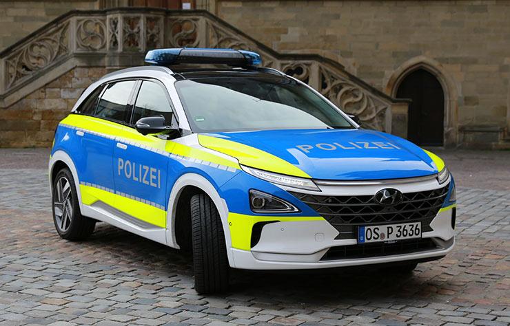 Hyundai Nexo à hydrogène pour la police d'Osnabrück