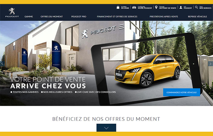 Acheter votre Peugeot en ligne