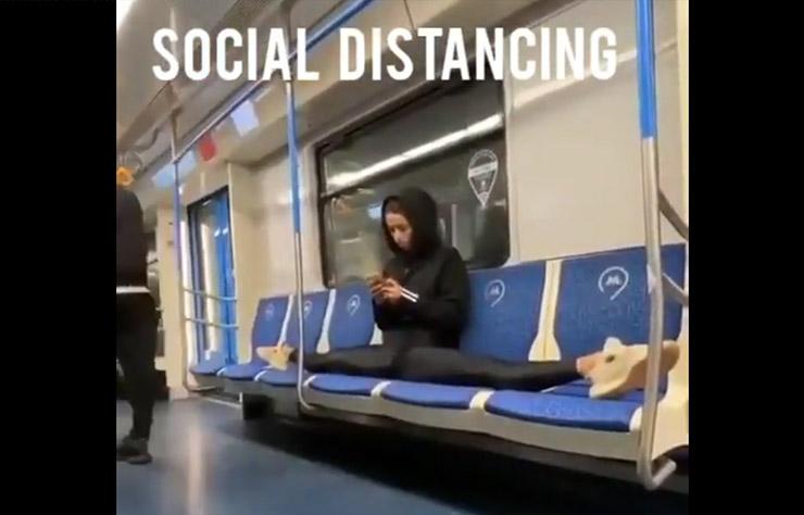 Distanciation sociale dans le métro