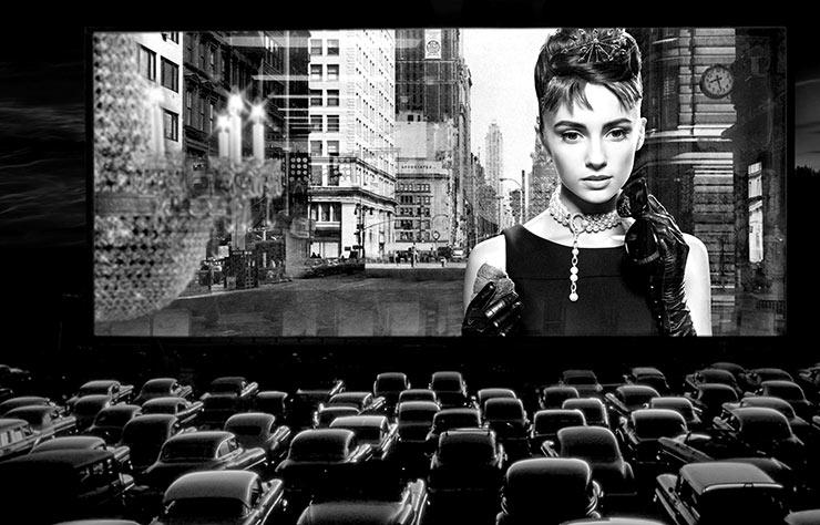 Cinéma drive-in aux etats-Unis