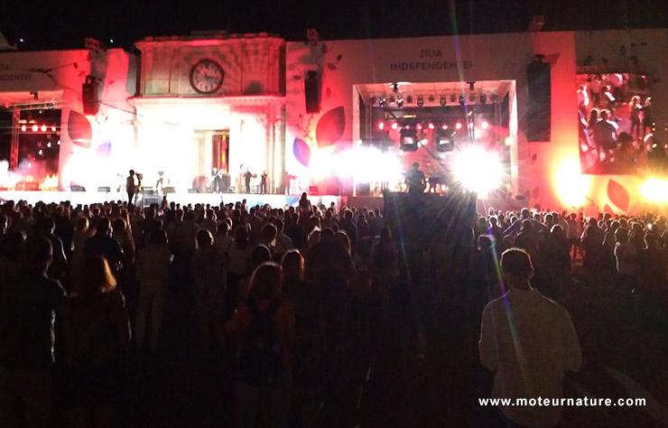 Fête de l'indépendance à Chisinau en Moldavie