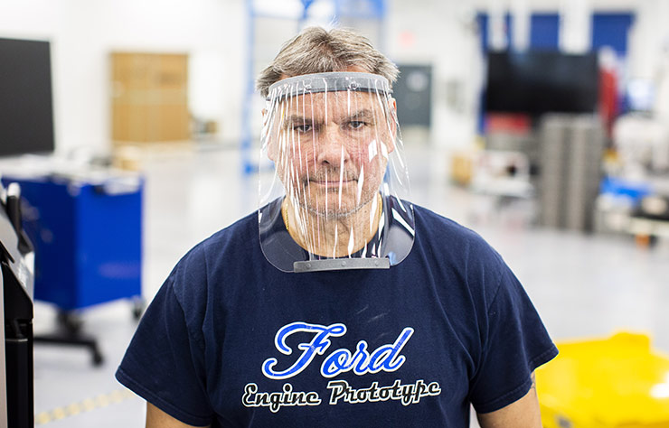 Masque de protection de Ford