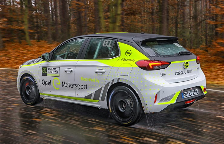 Opel e-Corsa pour le championnat ADAC Opel e-Rallye Cup