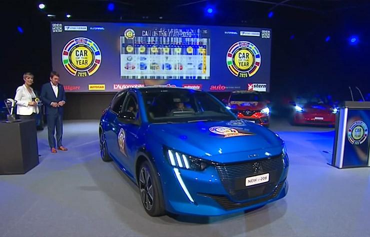 La Peugeot 208 voiture de l'année 2020