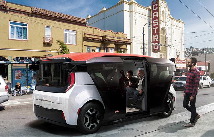 Cruise Origin véhicule autonome