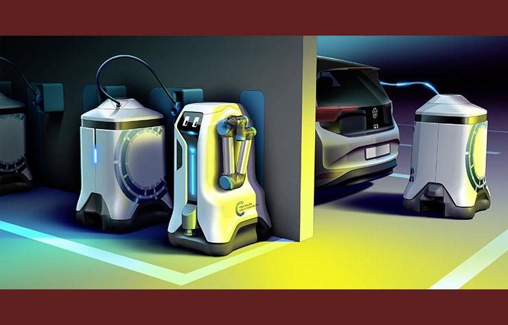 Concept de robot de recharge Volkswagen