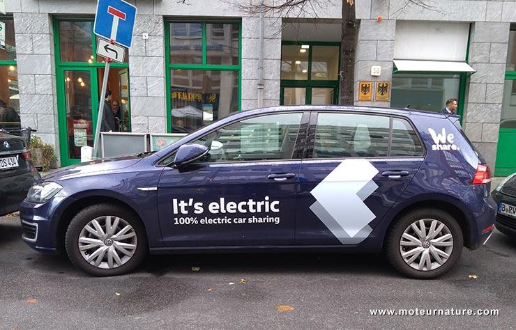 Volkswagen e-Golf du service WeShare à Berlin