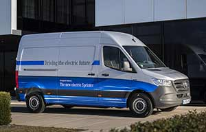 Mercedes eSprinter, grand volume, petite autonomie