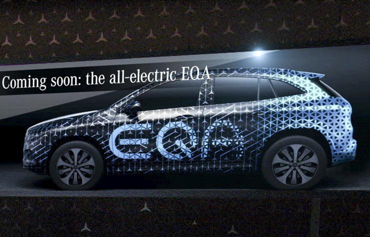 Esquisse Mercedes EQA électrique