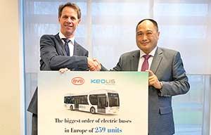 259 autobus électriques chinois pour les hollandais