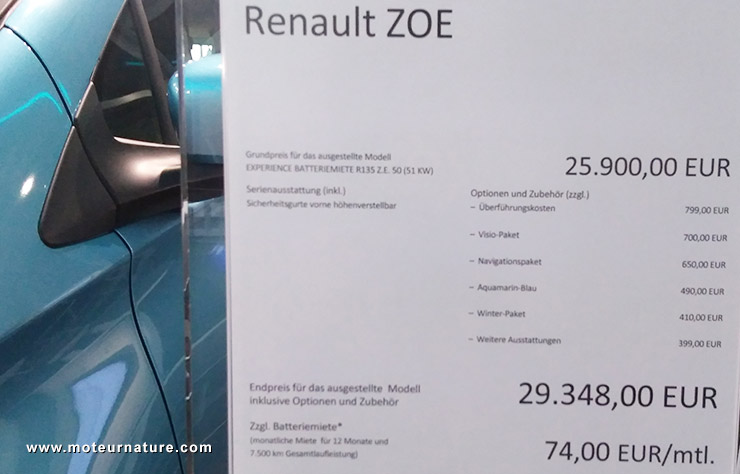 Showroom Renault ZE à Berlin