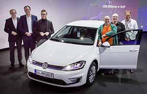 100000 Volkswagen eGolf électriques