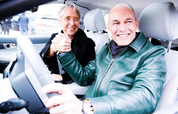 Bertrand Piccard et la Hyundai Nexo à hydrogène