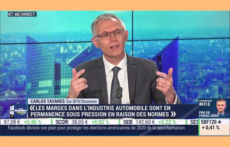 Carlos Tavares sur BFMTV