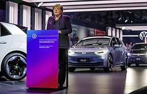 Angela Merkel pour soutenir la Volkswagen ID.3