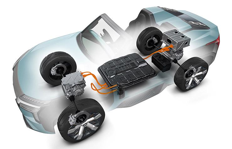 Mitsubishi MI-TECH Concept électrique avec turbine prolongatrice d'autonomie