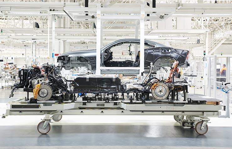 Production du coupé hybride rechargeable Polestar 1 à Chengdu, Chine
