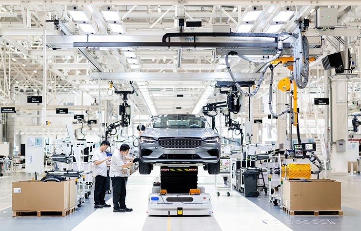 Production du coupé hybride rechargeable Polestar 1 à Chengdu, Chine