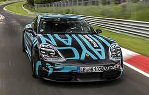 La Porsche Taycan électrique presqu'aussi rapide qu'une BMW M5