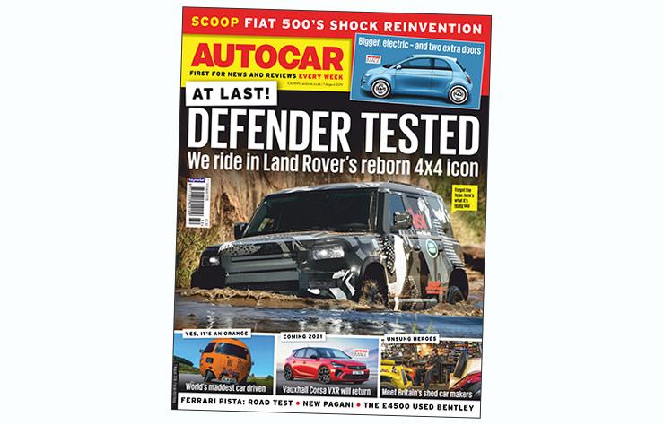 Couverture magazine anglais Autocar