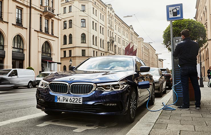 BMW 530e hybride rechargeable