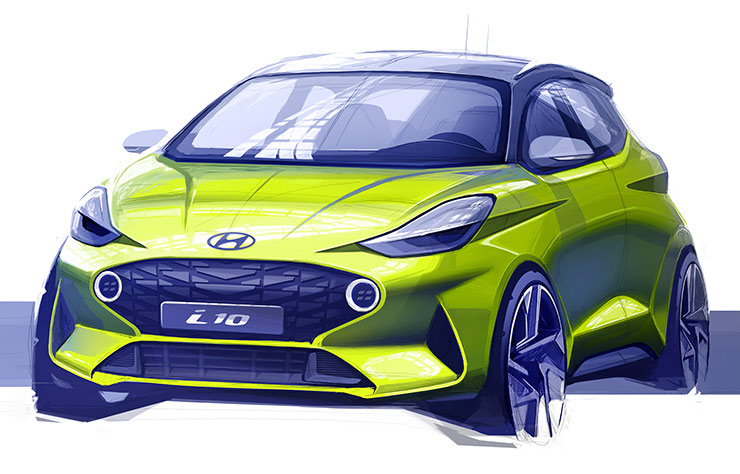 Esquisse nouvelle Hyundai i10