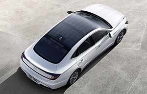 Un premier toit solaire arrive chez Hyundai