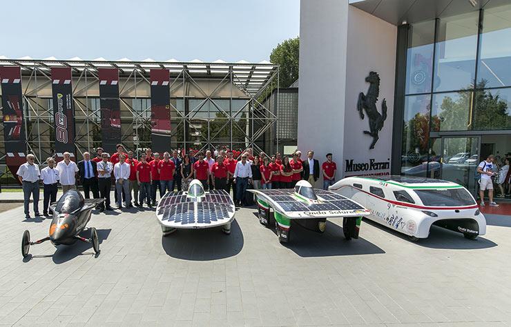 Voitures solaires au musée Ferrari de Maranello