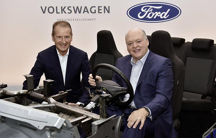 Les patrons de Ford et Volkswagen