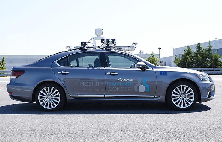 Lexus LS à conduite autonome à Bruxelles