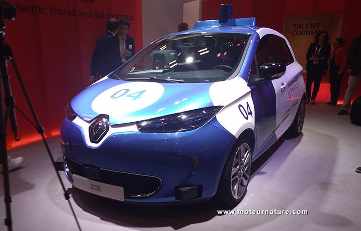 Prototype de Renault Zoé autonome