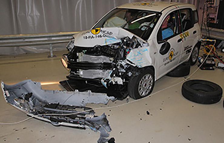 Fiat Panda testée par l'EuroNCAP