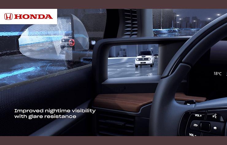 rétrovision par caméra sur la Honda e électrique
