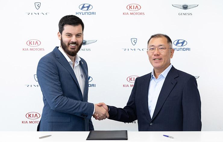 Hyundai-Kia avec Rimac