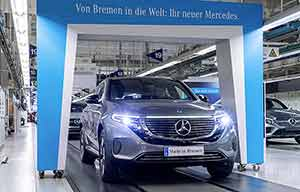 La Mercedes EQC, avec 350km d'autonomie?