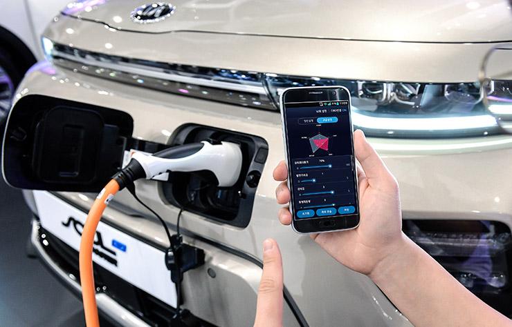 Contrôle et réglage d'une voiture électrique par smartphone