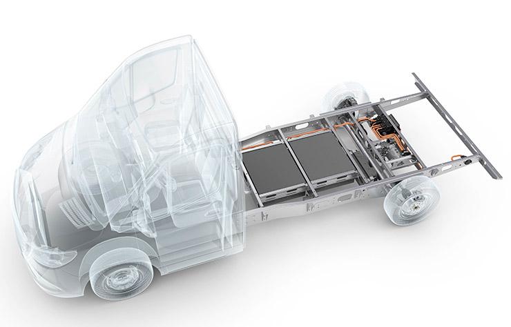 Chassis électrifié d'Al-Ko et de Huber Automotive
