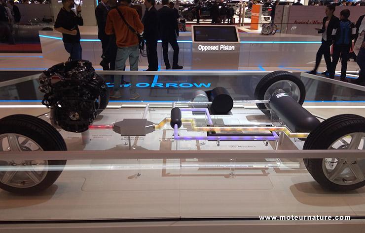 Démonstrateur technologique d'Aramco pour capturer les émissions de CO2 dans un véhicule roulant
