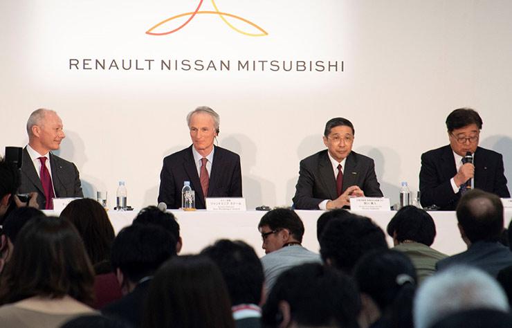 Jean-Dominique Sénard, Thierry Bolloré, Hiroto Saikawa, Osamu Gato