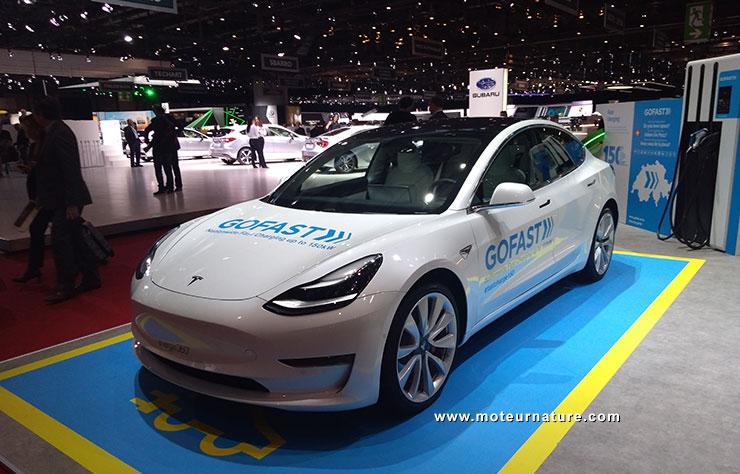 Tesla Model 3 à Genève chez GOFAST