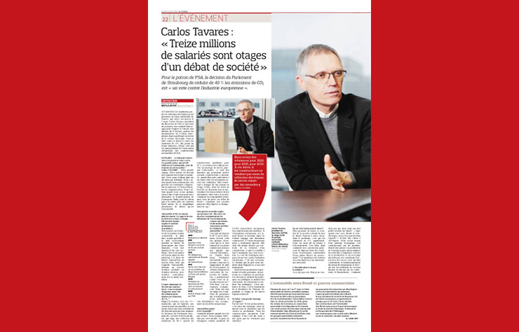 Interview de Carlos Tavares dans Le Figaro