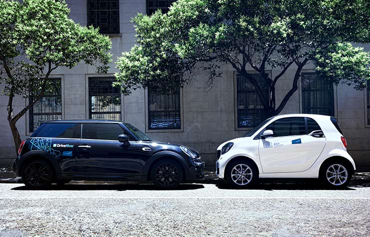 car2go et DriveNow, les 2 services d'autopartage de BMW et Daimler