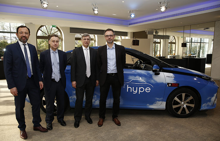 Taxi à hydrogène Hype de Toyota
