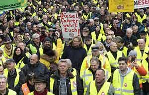 En Allemagne, les gilets jaunes pour le diesel