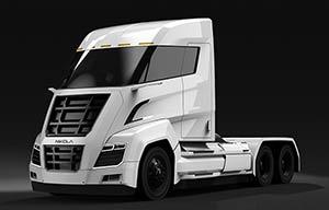 Le camion à hydrogène avec une batterie pour les clients peu exigeants