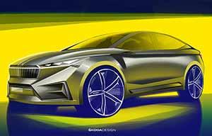 Skoda Vision IV: un crossover-coupé électrique