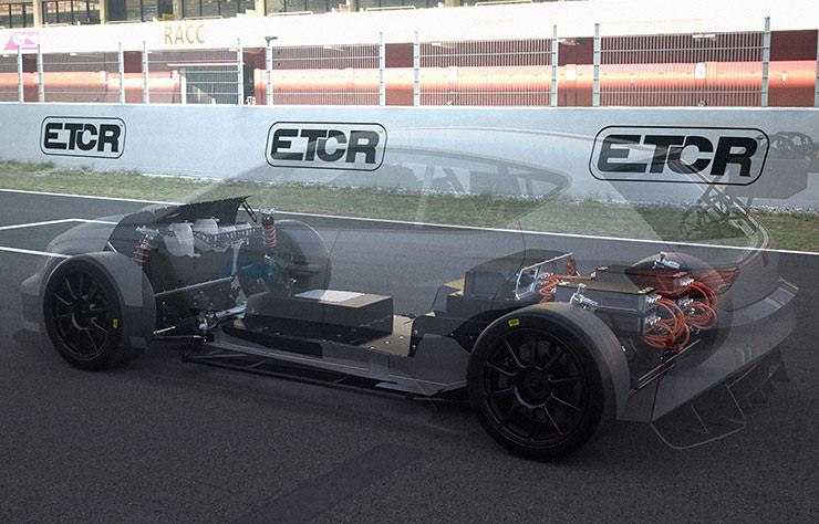 Voiture électrique de compétition Seat Cupra e-Racer
