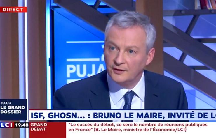 Bruno Le Maire sur LCI