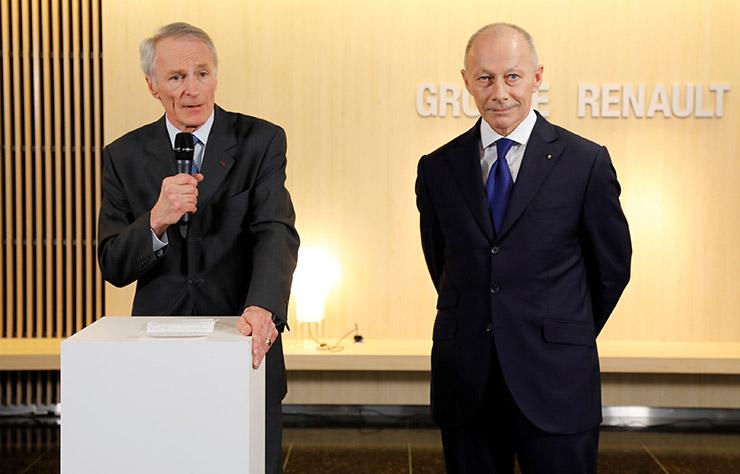 Jean-Dominique Senard et Thierry Bolloré