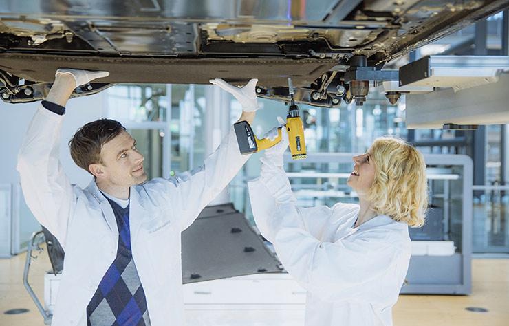 Chaine de fabrication de la Volkswagen eGolf